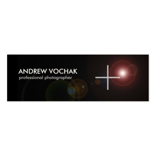Focus -  simple blackand white Skinny  Photography Double-Sided Mini Business Cards (Pack Of 20)