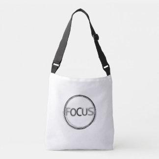 Focus Stylish Contemporary Typography Design Crossbody Bag