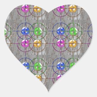 FOCUS symbol Management MANTRA NVN175 NavinJOSHI Heart Sticker