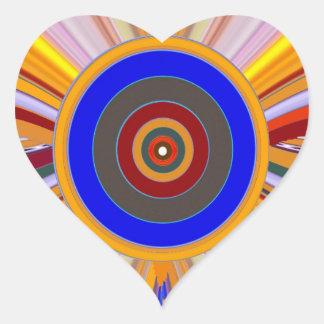 FOCUS Tool: Yoga Meditation Color Wheel DOT Heart Sticker