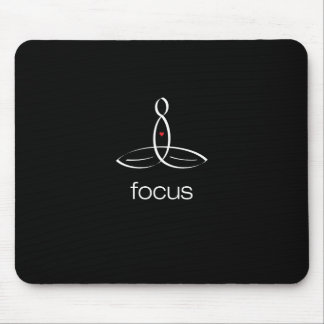 Focus - White Regular style Mouse Pad