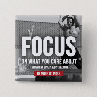 FOCUS - Workout Motivational Pinback Button