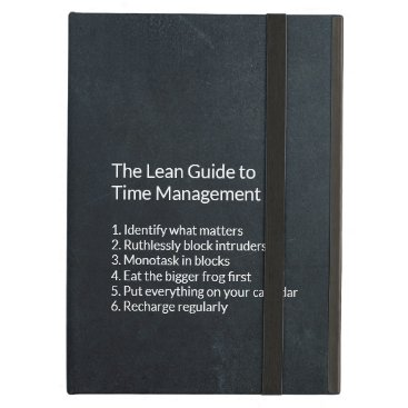 Focus your Life: The Lean Guide to Time Management Case For iPad Air