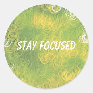 Focused Classic Round Sticker