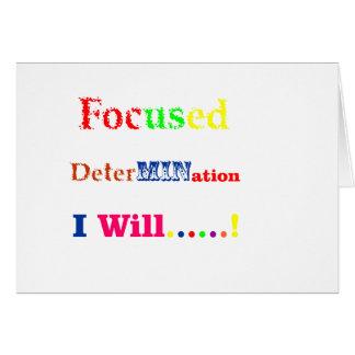 Focused Determination Rainbow Card