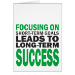 Focusing on Success Greeting Cards