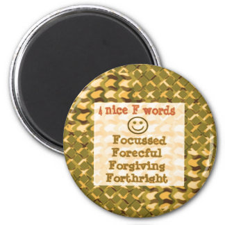 FOCUSSED Forgiving FORCEFUL thoughts LOWPRICE Fridge Magnets