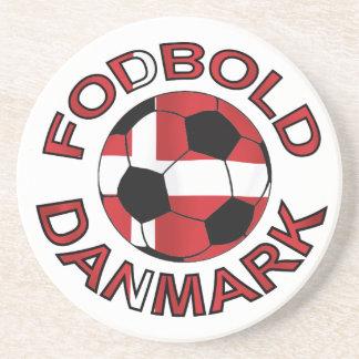 Fodbold Danmark Football Denmark Beverage Coaster