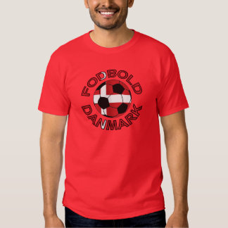Fodbold Danmark Football Denmark T Shirt