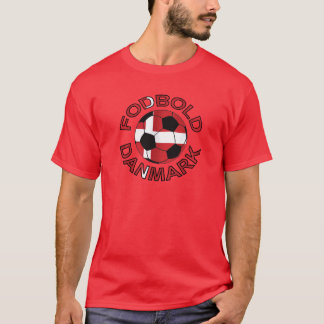 Fodbold Danmark Football Denmark T-Shirt
