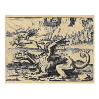 Fof medieval Lambspring del dragón Tarjetas Postales