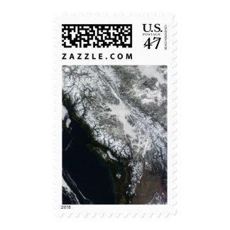 Fog and snow in British Columbia Postage