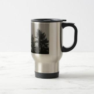 Fog anf Fir Trees - Photograph Travel Mug