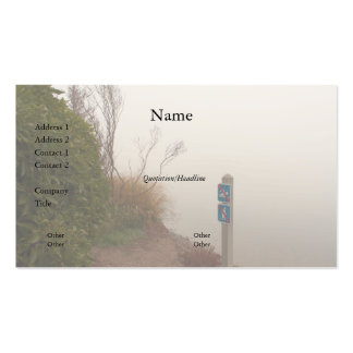 Fog at the Shore Business Card