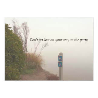 Fog at the Shore Party Invitation