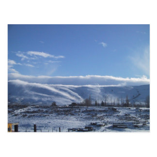Fog Billowing Down A Ridge On A Cold Winter Day Postcard