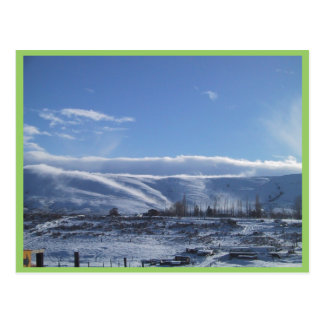 Fog Billowing Down A Ridge On A Cold Winter Day Post Cards