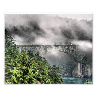 Fog Bridge One Photo Print