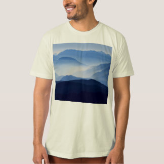 Fog covered mountain silhouettes T-Shirt