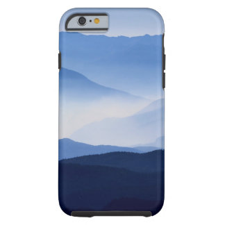 Fog covered mountain silhouettes tough iPhone 6 case