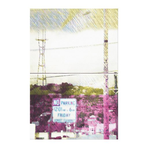Fog Crazy in Twin Peaks - San Francisco Stretched Canvas Prints