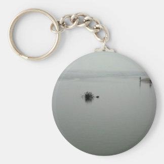 Fog Fishing Basic Round Button Keychain