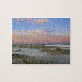 Fog from the Little Missouri River hangs in the Jigsaw Puzzle
