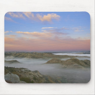 Fog from the Little Missouri River hangs in the Mouse Pad