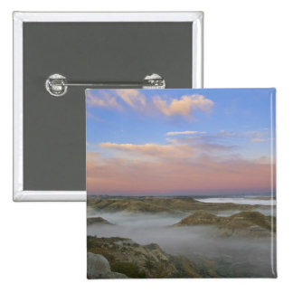 Fog from the Little Missouri River hangs in the Pinback Button