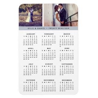 Fog Grey Stripe 2019 Photo Calendar Magnet