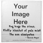 Fog Hugs the River haiku Printed Napkins