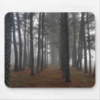 Fog in a forest mouse pad