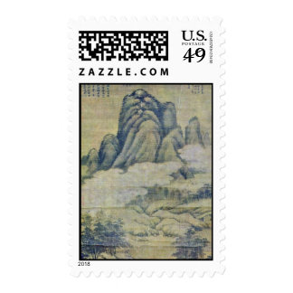 Fog In Forested Mountains By Kao K'O-Kung (Best Qu Postage Stamp