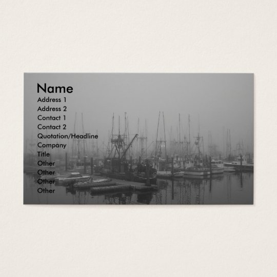 Fog In The Harbor Business Card