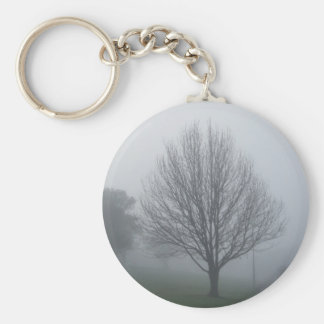 Fog in the Park Keyring Basic Round Button Keychain