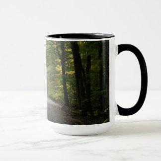 Fog in the Tree Tunnel Mug