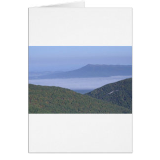 FOG IN THE VALLY GREETING CARD