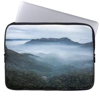 Fog Landscape Blue Mountains Neoprene Sleeve