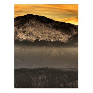 Fog Layer at Sunset Postcard