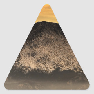 Fog Layer at Sunset Triangle Sticker