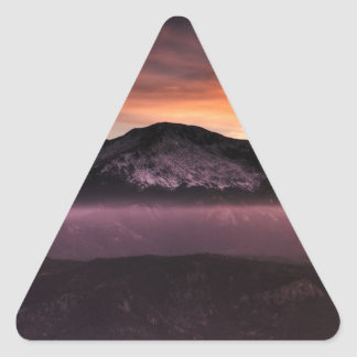 Fog Layer on Mountain Triangle Sticker