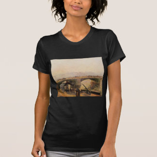 Fog, Morning, Rouen by Camille Pissarro T-shirts