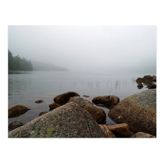 Fog On Jordan Pond Postcard