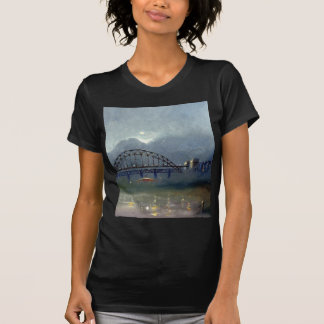 Fog On The Tyne Black Fitted Tee Shirt