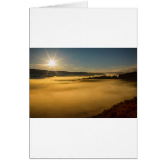 Fog On Yellowstone Lake Card