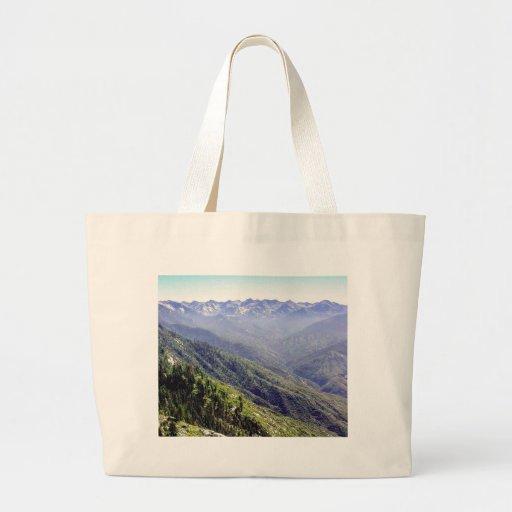 Fog Over Hills Jumbo Tote Bag