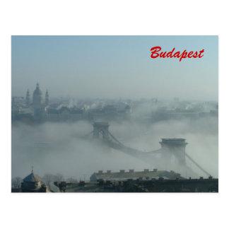 Fog over the Danube river Postcard