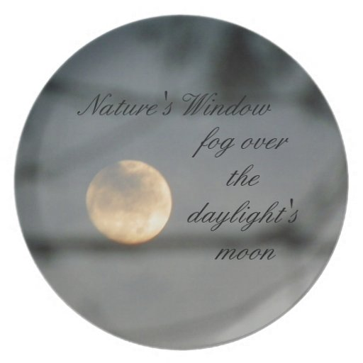 Fog over the daylight's moon plate