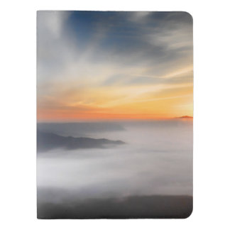 Fog over the mountains of japan during sunrise extra large moleskine notebook