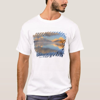 Fog rises from Lake McDonald on a very cold T-Shirt